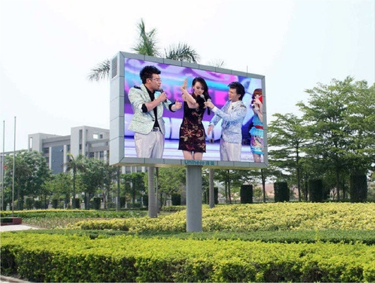 SMD3535 P8 Outdoor Full Color LED Screen High Contrast DC 5V / AC110V - 220V Power